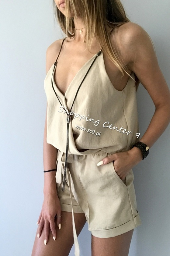 BEIGE ALLURE JUMPSUIT