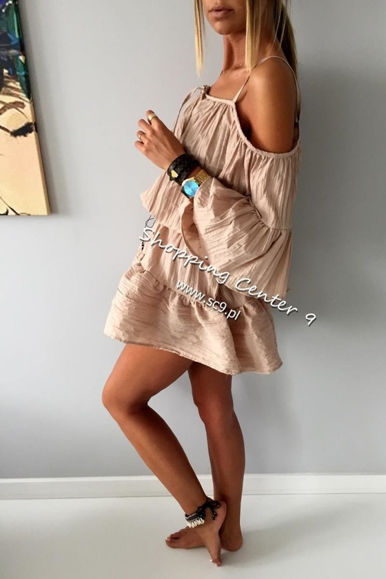 BEIGE BALI DRESS