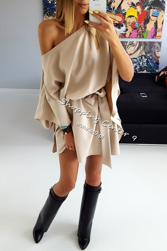 BEIGE MIKO DRESS