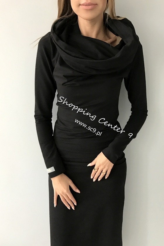 BLACK DRESS MAXI COTTON