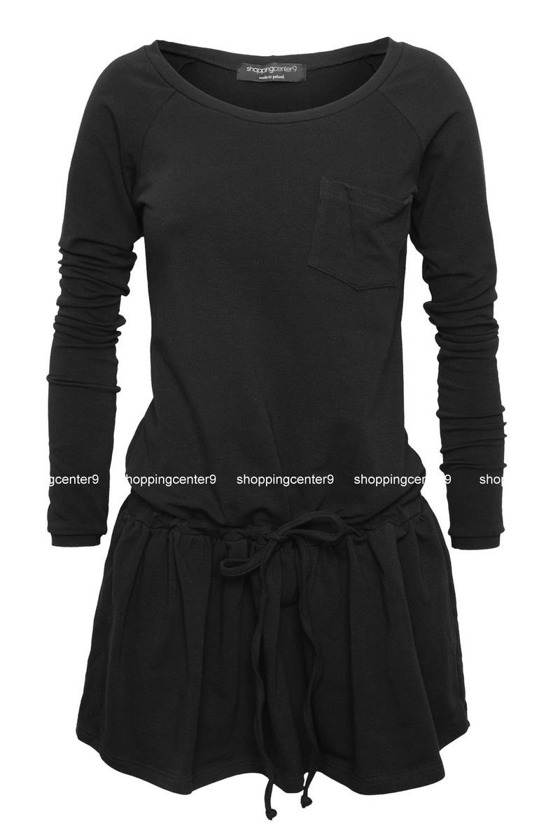 BLACK SPORTY & STYLISH TOP DESIGNE DRESS
