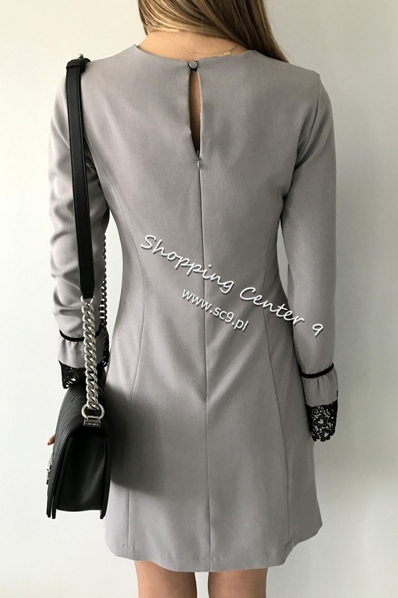 GREY VALENTINA DRESS