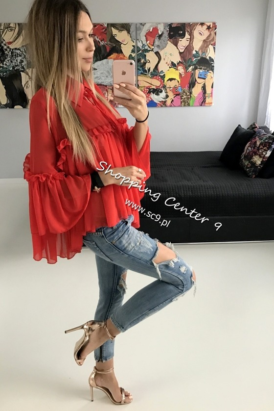 RED MIA BLOUSE