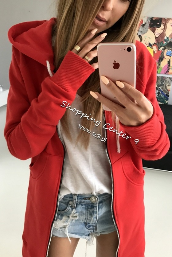 RED SPORTY SWEATSHIRT