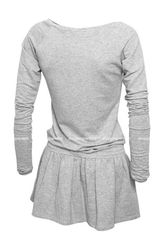SPORTY & STYLISH DRESS TOP DESIGNE GREY