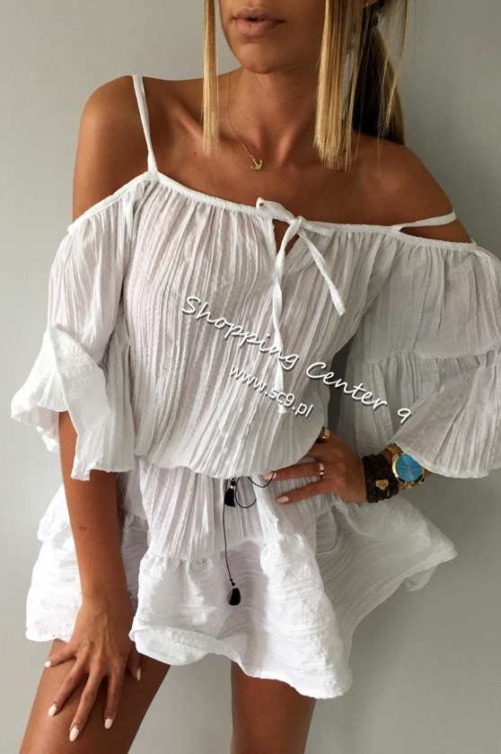 WHITE BALI DRESS