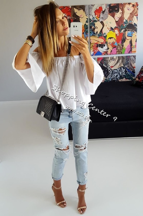 WHITE MIAMI BLOUSE