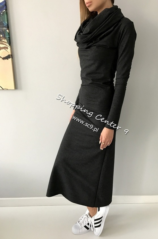 SUKIENKA MAXI COTTON GRAFIT