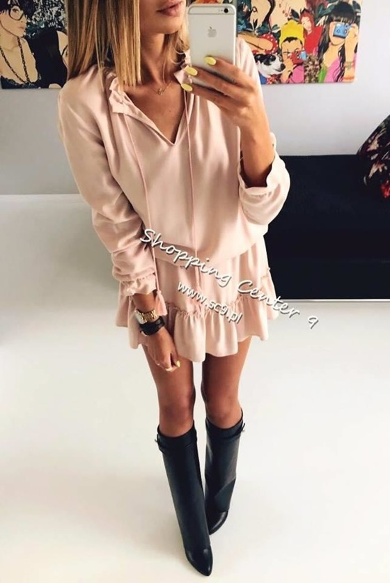 PINK CHLOE DRESS