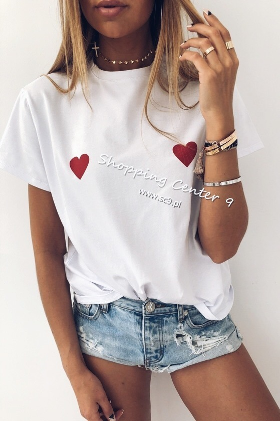 RED HEARTS T-SHIRT