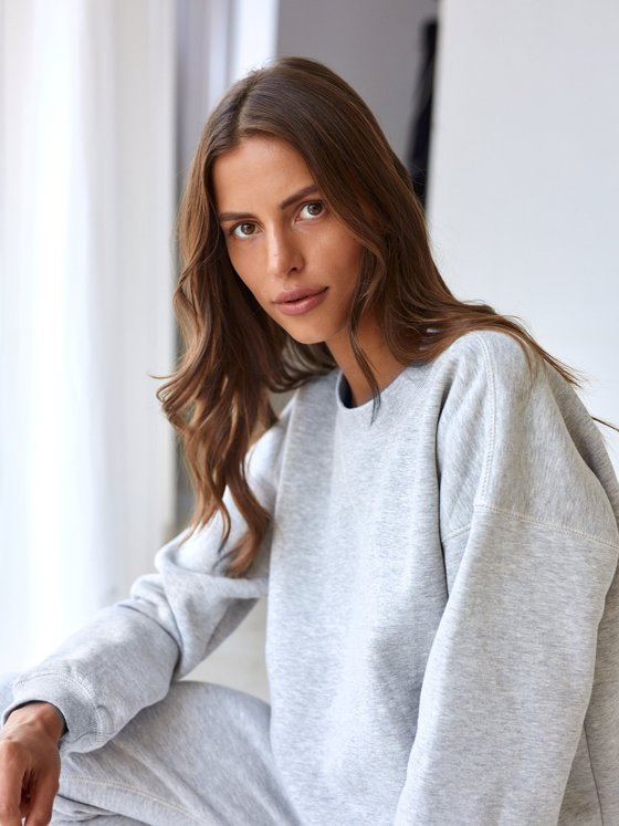 SWEATSHIRT COTTON GREY