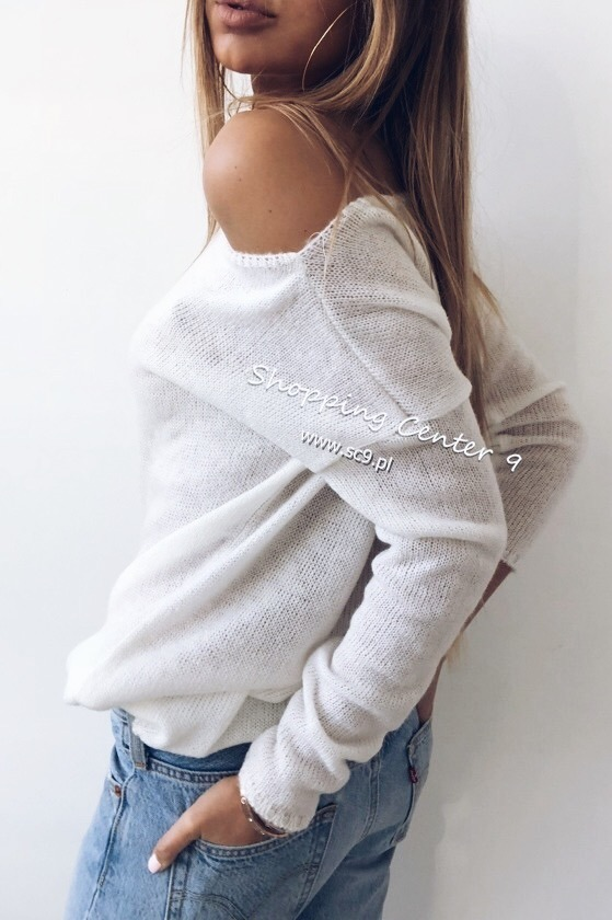 WHITE EMMA SWEATER