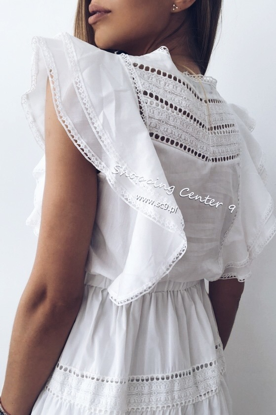 WHITE ISABEL DRESS