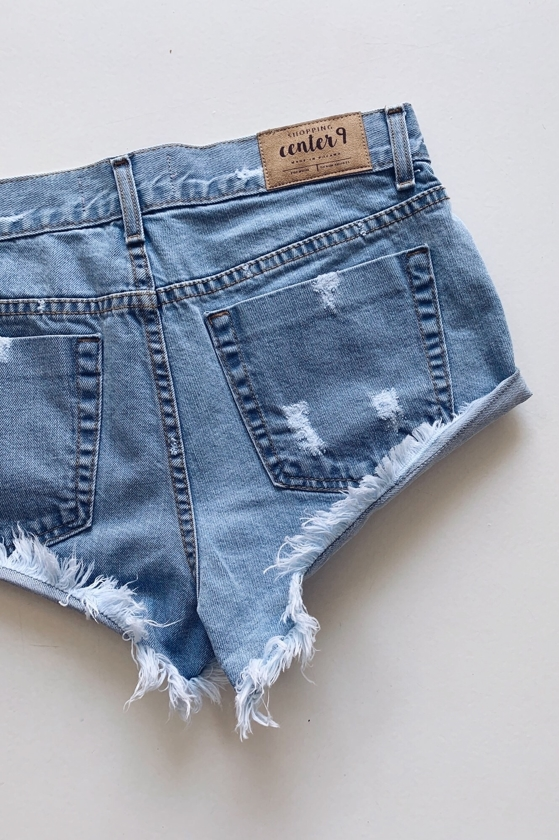 new ICED BLUE L.A. SHORTS