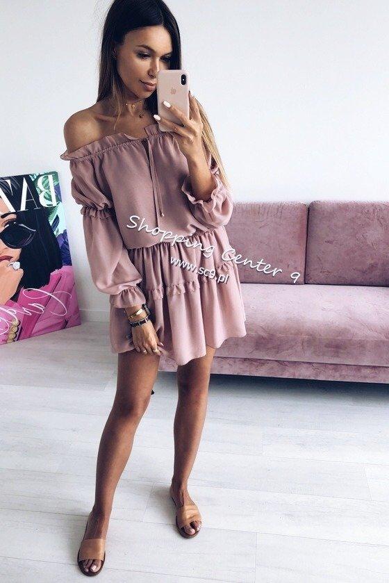 ebea246d96ef52 SUKIENKA MARISOL DUSTY PINK Róż | UBRANIA \ Sukienki \ Mini NIGHT ...