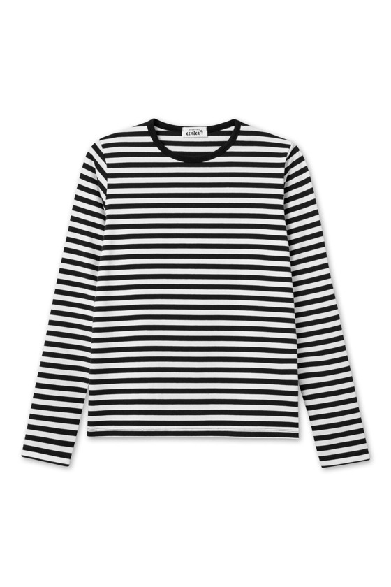 BASIC LONGSLEEVE STRIPES CZERŃ