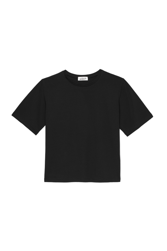 T-SHIRT O-NECK CZERŃ
