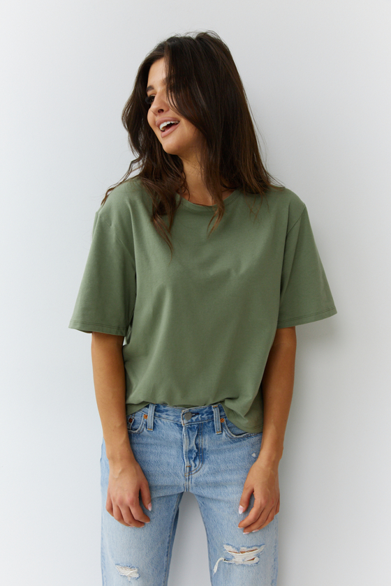 T-SHIRT O-NECK  KHAKI